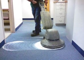 dry carpet cleaning process